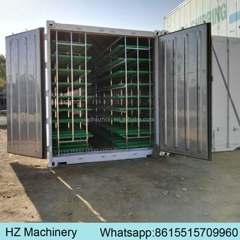 40HQ container automatic hydroponic fodder machine / electric green barley fodder sprouting unit for dairy goat farm