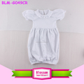 Newborn Personalized Ruffled Bubble Sleeves Coming Home Embroidered Gown Infant Short Sleeve Ruffle Baby Gown