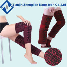Good elastic fashion knitting knee sleeve long knee support brace