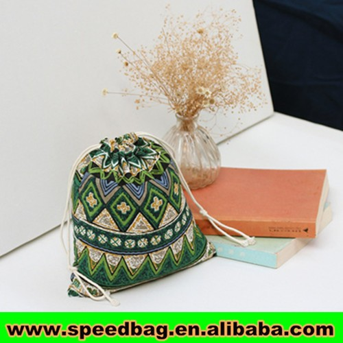 indian drawstring pouch for coffe or tea