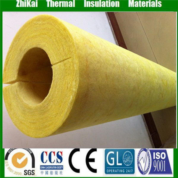 40mm thick External pipe lagging fiberglass pipe insulation