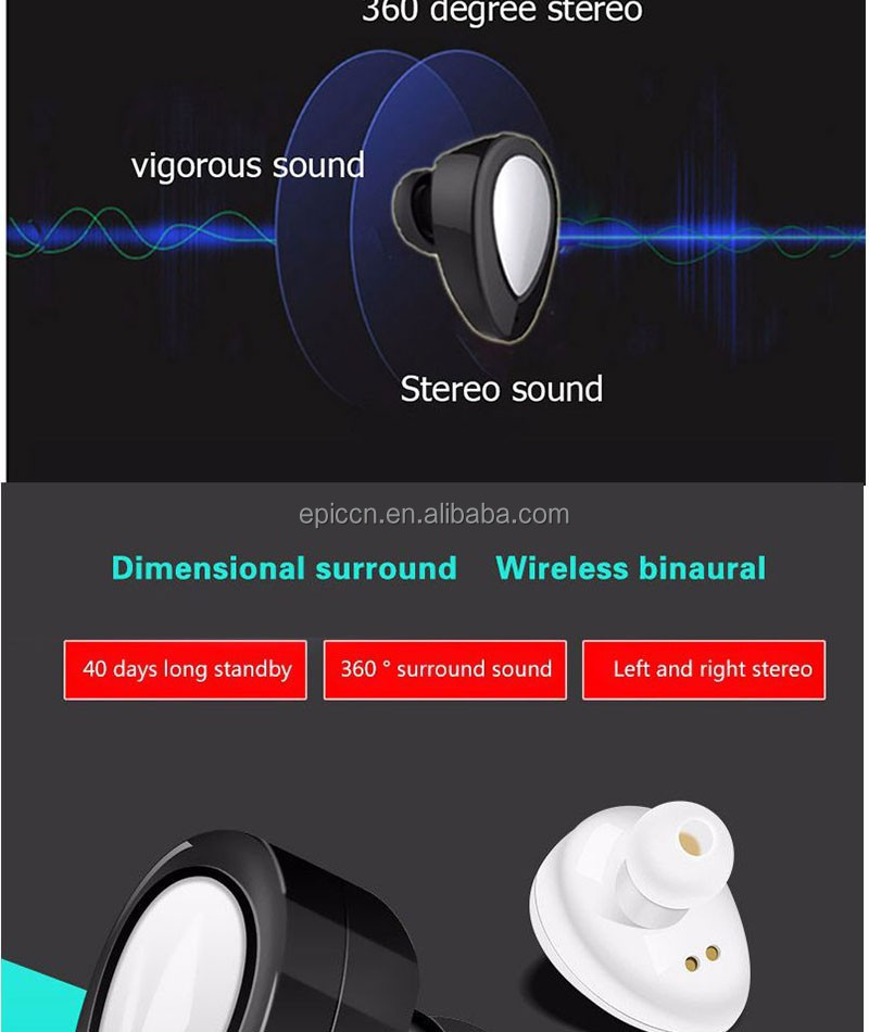 TWS Bluetooth Earphones, Mini Earphone Bluetooth, In-Ear Sport Bluetooth Earphone