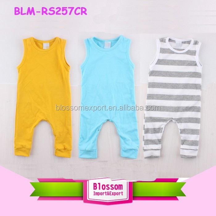 Baby Clothes Romper Blank Bodysuit Infant Sleepsuit Shortall Onesie Baby Wholesale Jumpsuit for Children Mustard Yellow Romper
