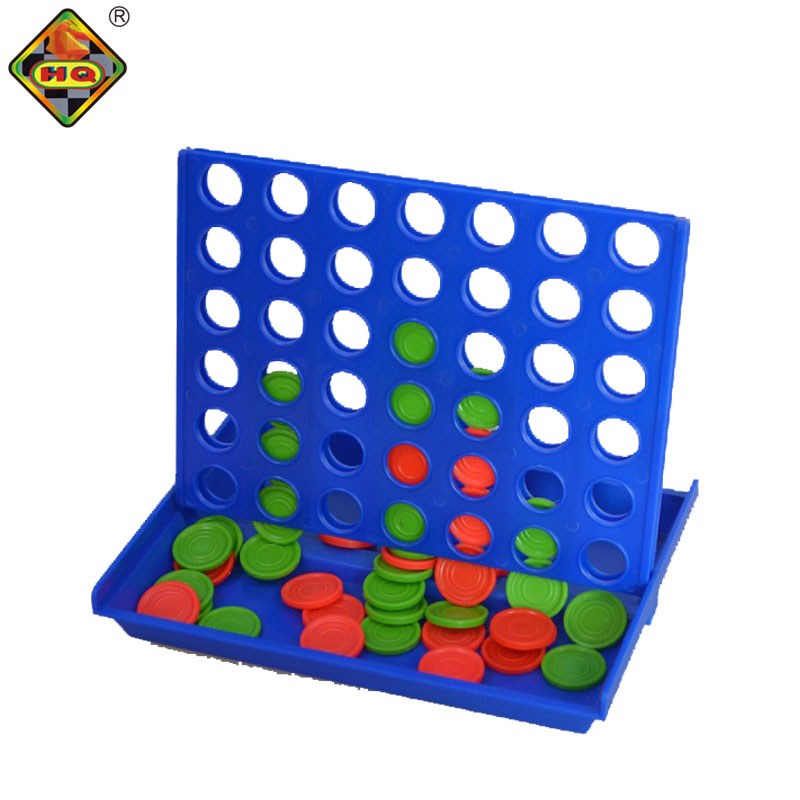 Plastic 4 in a row desk top puzzle bingo game with match line up four board