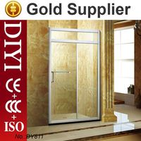 DIYI 4181 stainless steel pivot hinges shower screen seal strip shower cubicle and glass sliding shower door
