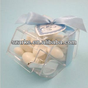mini acrylic/plastic candy case small suger package box