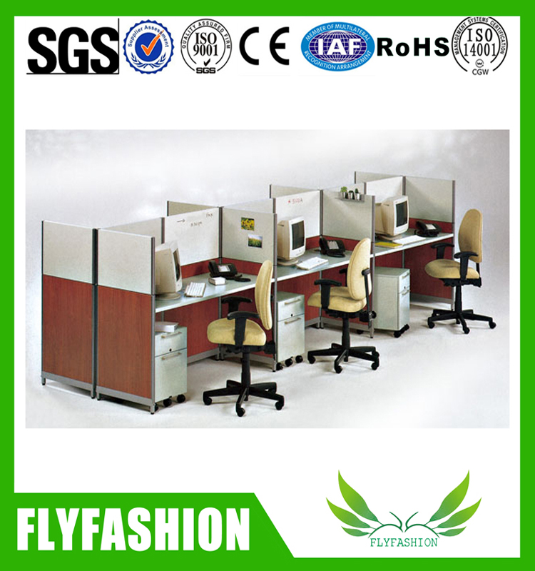 Classical design cubicle office workstation for 3 person