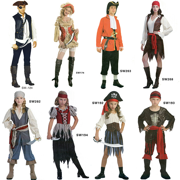 2016 best selling costume pirate
