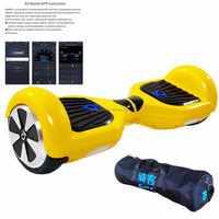 Hot 2 wheel self balancing electric mobility scooter Dubai chic smart s2 with app /led lights