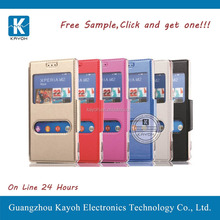 [kayoh] fitted back battery cover flip pu leather case for Sony M2 aqua