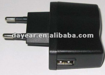 One port USB charger adapter 12V1A 5V1A