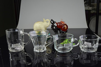 hot sale leaf pattern glass cup/wine glass cup/small glass supplier with handle