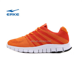 2016 ERKE knitted uppers mens action running shoes breathable sports shoes for man lightweight sneaker for wholesale
