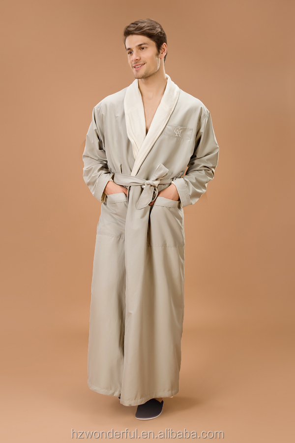 men's shawl collar microfiber bathrobe
