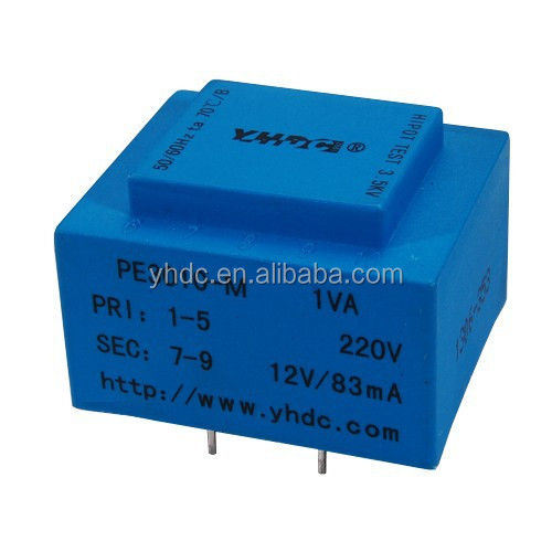 YHDC PE3010-M 1VA 230Vac/12Vac pcb mount power transformer