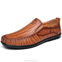 Leather men loafer shoes with cheap price for outdoor casual sport men use