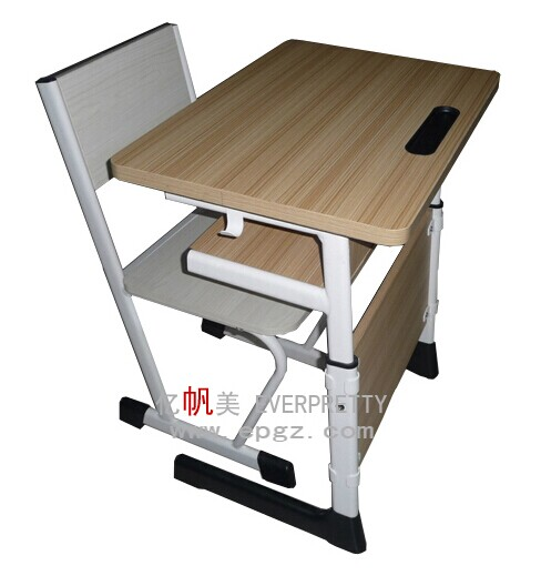 2016 Japanese High School Furniture Classroom Furniture Wooden Desk Wooden Table Chair Set For