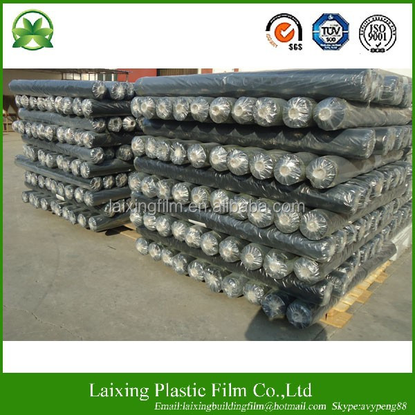 200um black Polyethylene Builders film/poly sheeting