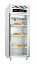 Commercial kitchen refrigerator/vertical freezer/ upright glass door display fridge for meat/vegetable chiller