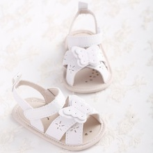 New baby Girls summer shoes butterfly sandals soft leather baby shoes