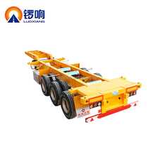 Factory made gooseneck trailer container skeleton truck chassis