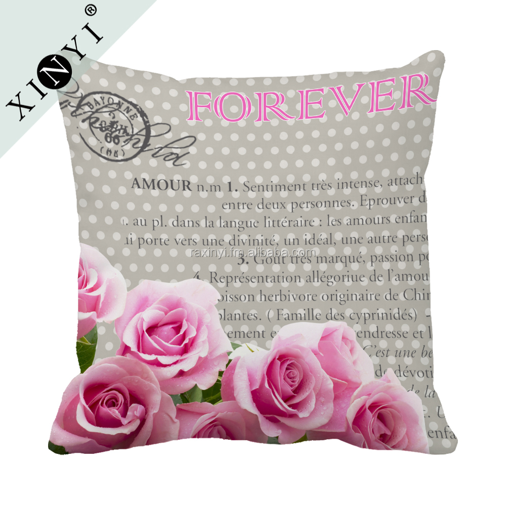 Fancy Flower Style Wholesale Cushion Cover 45*45 Square Pillow Cover Home Decorative Sublimation Pillow Case