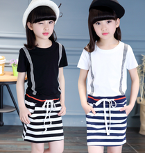 zm40012b new style summer teen children girl clothing sets