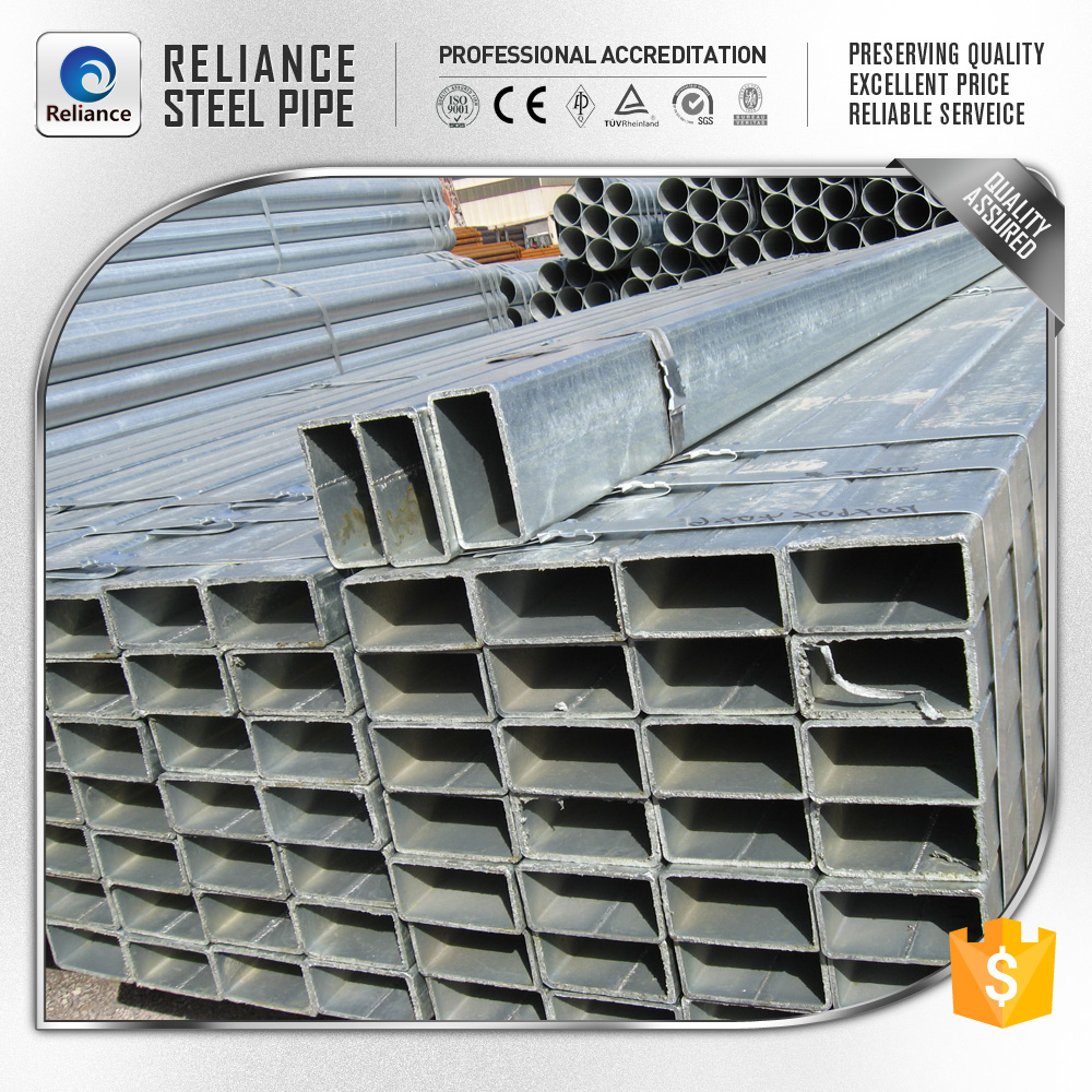 SQUARE AND RECTANGULAR TUBE PIPE HOLLOW METAL FOR FENCE POST GALVANIZED STEEL PIPE