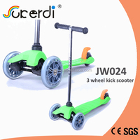 High quality kids kick 120/80mm 3 wheels stand up trike scooter