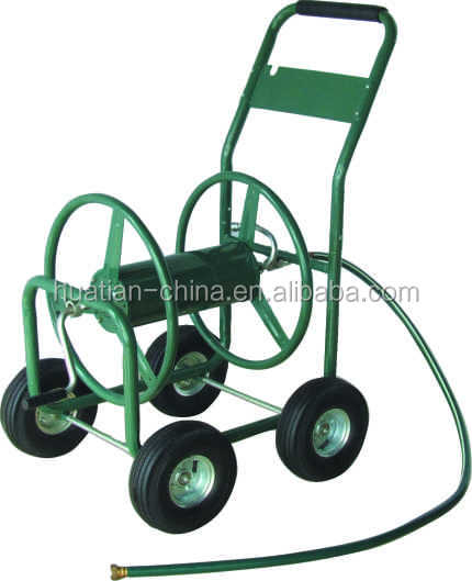 4-Wheel Garden Hose Reel Cart with 250-Foot-Hose Capacity
