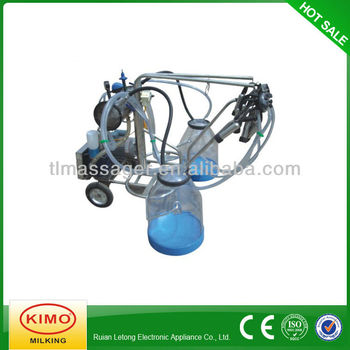 Electric Vacuum Pump-typed Double-barreled Mobile Milking Machine