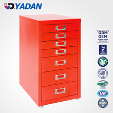 Knock structure under table small drawers cabinet-Godrej steel file cabinet with 7 drawers