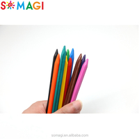 12 pcs non-toxic and safe color pencil wax crayon for kids With ASTM, EN71,MSDS