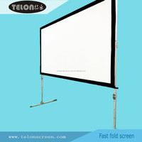 TELON Fast Folding Projector Screen/easy quick screen/portable projection screen