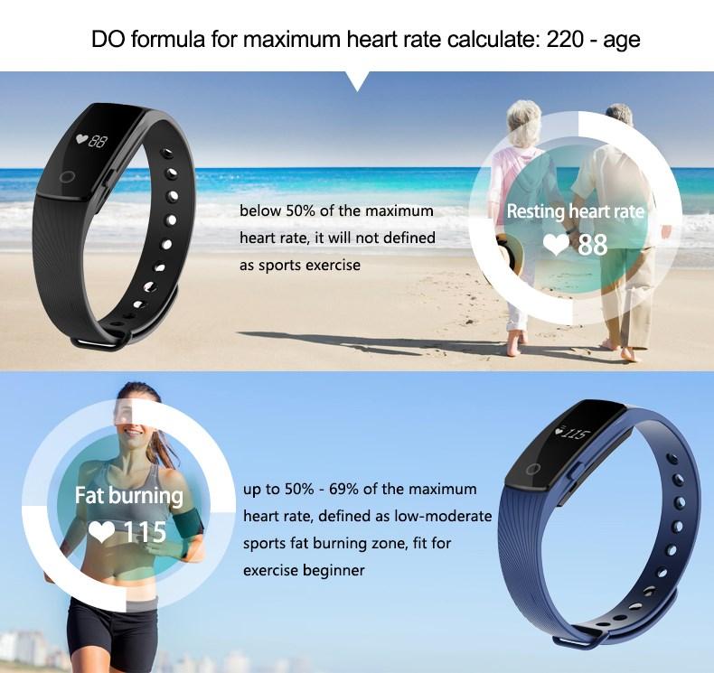 2016 Huiers Nouvelle conception Spéciale de remise en forme montre moniteur de fréquence cardiaque ID107