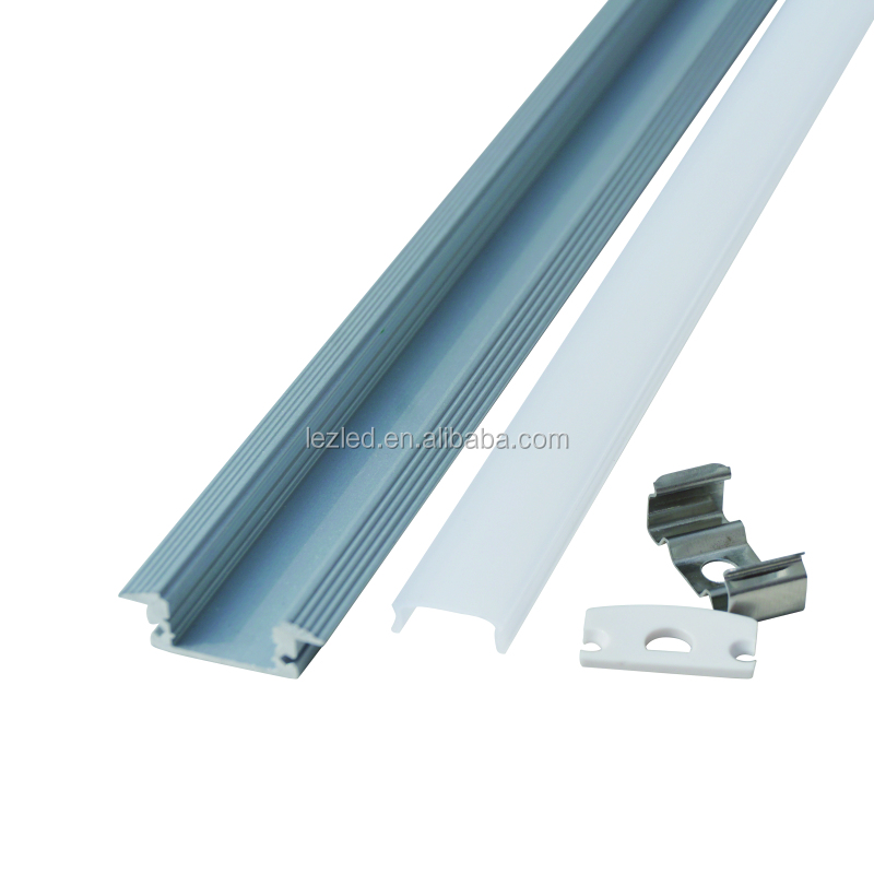 led decorative strip light base LED aluminum profile or channel with Plastic diffuser