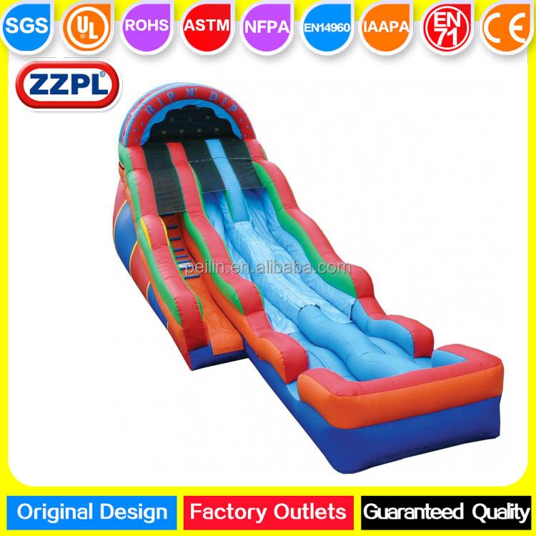 ZZPL Medium Rip N Dip Inflatable Water Slide for kids and adults, Backyard Inflatable Slip N Slide for sale