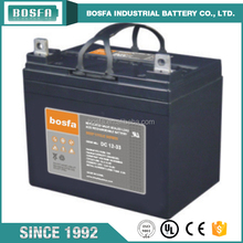 High capacity solar system storage battery 12v 33ah deep cycle battery