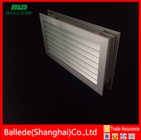 aluminum anodized air return grille for door in hvac system