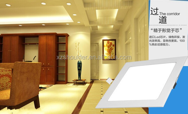 Ultra thin design 6W LED ceiling recessed grid down light / slim Square panel light