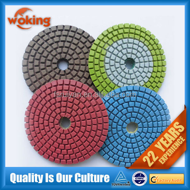4 Inch Diamond Wet Polishing Abrasive Pads For Polishing
