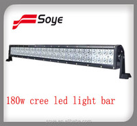 High Quality 180w led off-road light bars,spot flood combo beam for SUV,4X4,ATV,Jeep,Truck, off-road vehicles