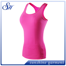 New Women Sexy Fitness Tanks Tops Professional Girls Running And Sports Vests Elastic Skinny Yoga T Shirts Hot Gym Clothes