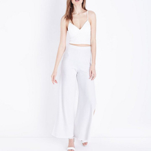 Hot Sale Deep V Neck cream ribbed Thin Straps Ladies Tank Sexy Crop Top