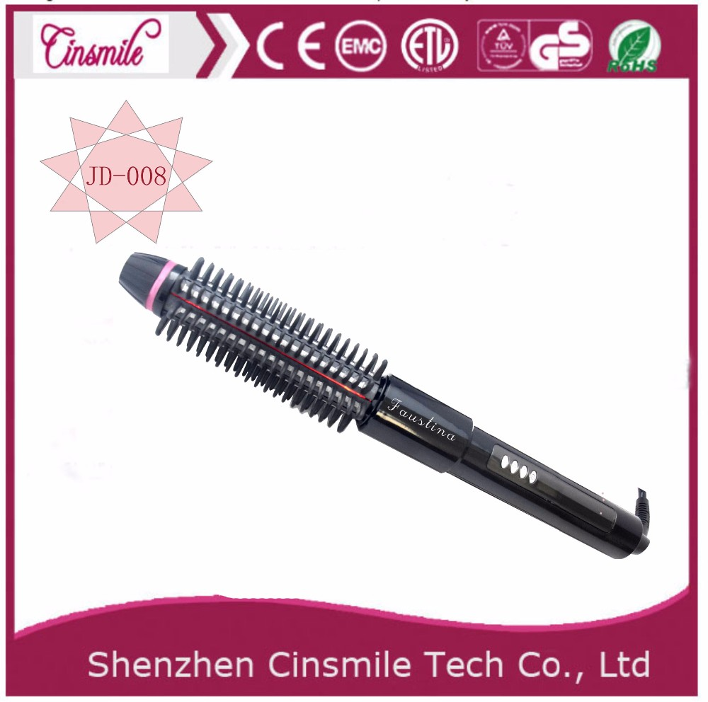 New Style Auto Temperature Control Electric Hair Straightening Brush Infrared Hair Straightener Comb