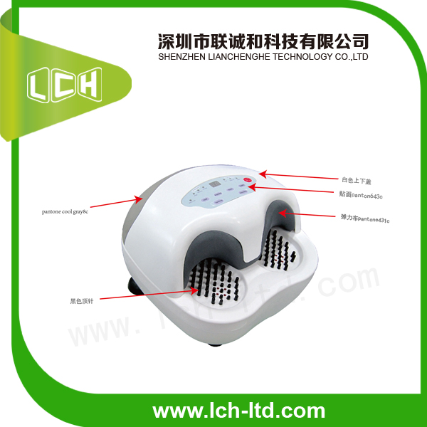 2014 new air pressure heating health care electric foot massager