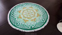 Alibaba china mandala tapestries custom print large round beach towel