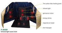 Far infrared tourmaline sauna room with 6 pcs infrared light