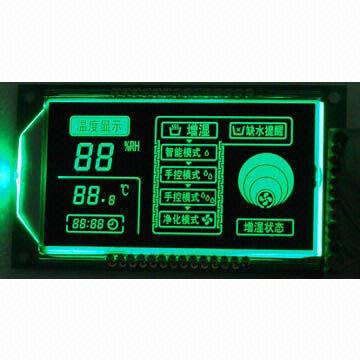 Customized negative VATN LCD display, green led backlight