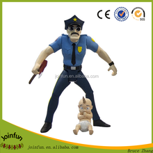 Custom make pvc cop action figure with movable arms, custom movable body cop action figure